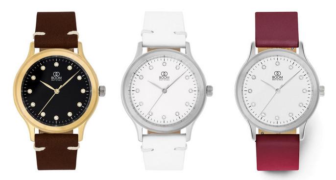 Exempel på design av klockor hos Boom Watches