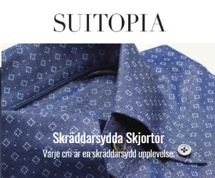 Skräddarsydd blå skjorta Suitopia